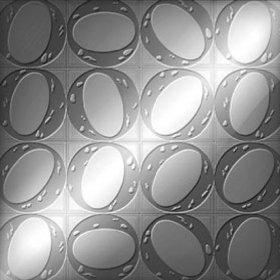 Patterned sheet steel